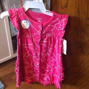 carters pink ruffle onesie